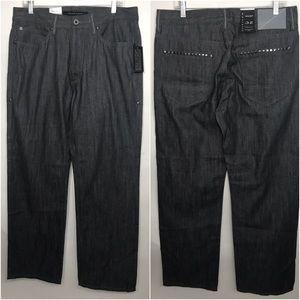 NWT Sean John Hamilton Straight Fit Raw Grey Jeans